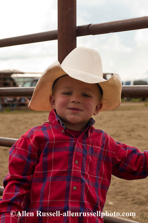 Young Cowboy At Rodeo In Montana Allen Russell Photography