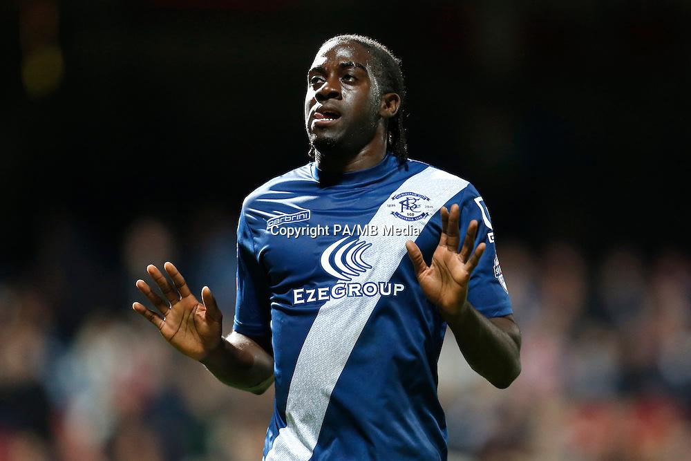 Birmingham City's Clayton Donaldson celebrates scoring the second goal