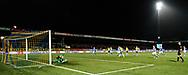 Voetbal Leeuwarden Eredivisie 2014-2015 SC Cambuur - PEC Zwolle: L-R De penalty wordt benut en brengt Cambuur op 2-1