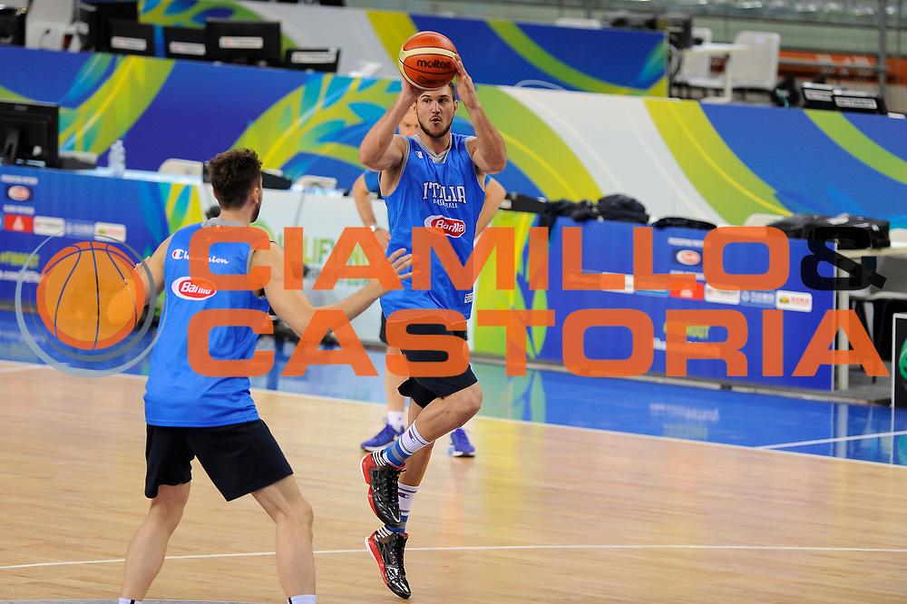 DESCRIZIONE: Torino FIBA Olympic Qualifying Tournament Italia <br /> GIOCATORE: Danilo Gallinari<br /> CATEGORIA: Allenamento Nazionale Italiana Italia Maschile Senior<br /> GARA: FIBA Olympic Qualifying Tournament <br /> DATA: 04/07/2016<br /> AUTORE: Agenzia Ciamillo-Castoria