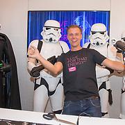 NLD/Amsterdam/20170202 - Armin van Buuren opent eigen A State Of Trance-radiostudio, Armin van Buuren en Dart Vader openen de Studio