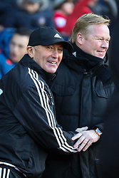 West Bromwich Albion Manager Tony Pulis greats Southampton Manager Ronald Koeman - Mandatory by-line: Jason Brown/JMP - 07966386802 - 16/01/2016 - FOOTBALL - Southampton, St Mary's Stadium - Southampton v West Bromwich Albion - Barclays Premier League