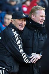 West Bromwich Albion Manager Tony Pulis greats Southampton Manager Ronald Koeman - Mandatory by-line: Jason Brown/JMP - 07966386802 - 16/01/2016 - FOOTBALL - Southampton, St Mary's Stadium - Southampton v West Bromwich Albion - Barclays Premier League