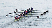 London, Great Britain.  Crew 70 Masters F. Barnes  Bridge  Ladies  RC/Kingston  RC/Mortlake  <br /> Anglian  &  Alpha  RC/Thames  RC/Tideway  Scullers  <br /> School approaching the start line at the 2015 Women's Head of the River Race, Chiswick to Putney, Championship Course, River Thames.  England. <br /> Saturday  14/03/2015 <br /> <br /> [Mandatory Credit; Peter Spurrier/Intersport-images]
