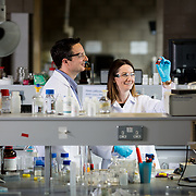 19.05.2017      <br /> Researchers, Kevin Ryan and Claudia Coughlan pictured at the University  of Limerick. <br /> Researchers at the Bernal Institute, University of Limerick have made a significant contribution in the area of nanotechnology, as part of a major collaboration project involving researchers based in Barcelona, Spain and Los Alamos, USA. In their recent publication, the researchers highlighted a fascinating class of new nanocrystals, called &lsquo;Compound Copper Chalcogenide Nanocrystals&rsquo;, which are made up of earth-abundant and environmentally friendly materials that offer new opportunities for surprising discoveries. Even though the nanocrystals are only several nanometres in size (one-billionth of a metre), an interesting feature about these materials is that their properties can be controlled by using different elements from the periodic table, in combination with copper and a chalcogenide (like sulfur, selenium, or tellurium), which allows them to be used in a wide range of applications. For example, solar cells require materials that are excellent at absorbing sunlight, displays and light-emitting diodes (LEDs) require materials that can emit bright light, and next-generation batteries require materials that can be charged faster and last longer.<br /> Copper chalcogenide nanocrystals can be adapted to serve many different functions, making them suitable for use in solar cells, LEDs, lithium-ion batteries, sensors and thermoelectrics. Their use can also been extended into the area of medical therapies, where they can be used as contrast agents to image cells within the body using their light emission abilities, and even kill cancerous cells by converting the light energy that they absorb into heat. The researchers captured the importance of the work carried out in this area in their recent publication, to provide the most comprehensive, reliable and critical review of this research field, which is published in one of the most highly regarded and highest-ranked Chem