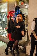 ERIN BLACK; SARAH HEFFERMAN, Daniel Lismore birthday party. Whisky Mist, Hilton Park Lane, London. 19 December 2013