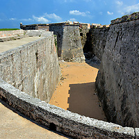 Land Ditch at El Morro in Havana, Cuba <br />