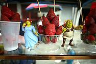 Venta de Fresas con crema en el Junquito. 31-08-2008 (ivan gonzalez)