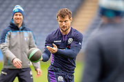 Pete Horne (#12) of Scotland during the Captain's training run for Scotland at BT Murrayfield, Edinburgh, Scotland on 8 March 2019 ahead of the Guinness 6 Nations match against Wales.