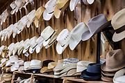 Store cowboy hat display.