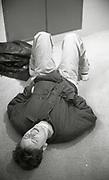 Bernard Sumner of New Order, recording 'World In Motion' The Mill studios, Buckinghamshire, 1990