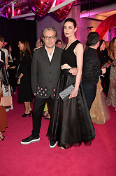 DAVID DOWNTON and ERIN O'CONNOR at The Naked Heart Foundation's Fabulous Fund Fair hosted by Natalia Vodianova and Karlie Kloss at Old Billingsgate Market, 1 Old Billingsgate Walk, London on 20th February 2016.