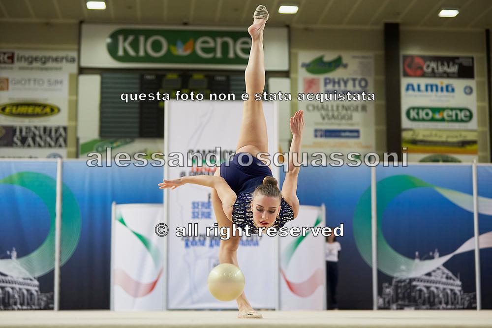 Valeria Carnali from Petrarca team during the Italian Rhythmic Gymnastics Championship in Padova, 25 November 2017.