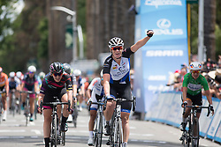 Kirsten Wild (NED) of Hitec Products Cycling Team wins the fourth, 70 km road race stage of the Amgen Tour of California - a stage race in California, United States on May 22, 2016 in Sacramento, CA.