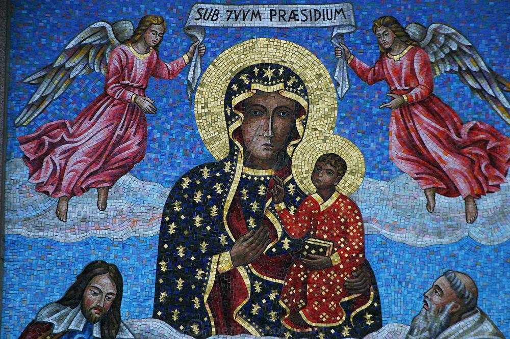 Czestochowa, Poland. Jasna Gora Monastery (Black Madonna) mosaic.
