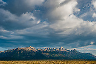 Sunrise over the Grand Tetons on the outskirts of Jackson, Wyoming.