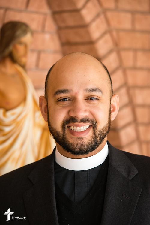 Headshot photograph of the Rev. Matthew Wietfeldt, associate pastor of Trinity Lutheran Church on Wednesday, Jan. 7, 2015, in Nashville, Ill. LCMS Communications/Erik M. Lunsford