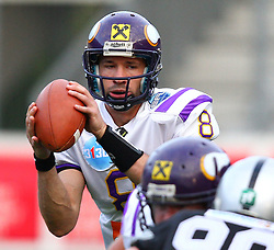 28.05.2011, Tivoli Stadion, Innsbruck, AUT, EFL Halbfinale, Swarco Raiders Tirol vs Raiffeisen Vikings, im Bild Christoph Gross, (Raiffeisen Vikings, #8, QB) ,  EXPA Pictures © 2011, PhotoCredit: EXPA/ T. Haumer