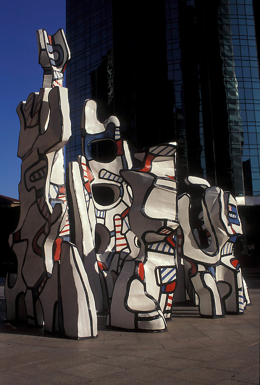 "Stock photo of the Jean Dubuffet sculpture ""Monument to the Phantom"" in downtown Houston Texas"
