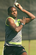Lonwabo Tsotsobe of the Warriors sends down a delivery during the Warriors training session held at St Georges Park in Port Elizabeth on the 16 September 2010..Photo by: Shaun Roy/SPORTZPICS/CLT20