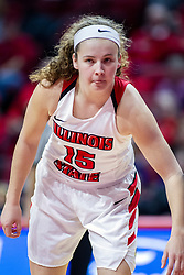NORMAL, IL - January 05: Frannie Corrigan during a college women's basketball game between the ISU Redbirds and the Purple Aces of University of Evansville January 05 2020 at Redbird Arena in Normal, IL. (Photo by Alan Look)