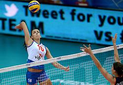 01-10-2014 ITA: World Championship Volleyball Servie - Nederland, Verona<br /> Nederland verliest met 3-0 van Servie en is kansloos voor plaatsing final 6 / Milena Rasic