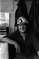 Salters Lane Drift Mine, a footerall  Stock-on-Trent , North Staffordshire The West Midlands UK 1978