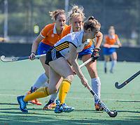 BLOEMENDAAL   -  ?  tijdens  oefenwedstrijd dames Bloemendaal-Victoria, te voorbereiding seizoen 2020-2021.   COPYRIGHT KOEN SUYK