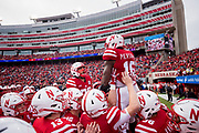 Lincoln, NE - Nov 3: wide receiver De'Mornay Pierson-El #15 of the Nebraska Cornhuskers during their game against the Northwestern Wildcats at Memorial Stadium in Lincoln Nebraska November 4, 2017. Photo by Eric Francis