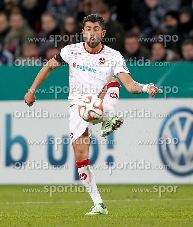 03.03.2015, BayArena, Leverkusen, GER, DFB Pokal, Bayer 04 Leverkusen vs 1. FC Kaiserslautern, Achtelfinale, im Bild Kerem Demirbay (1. FC Kaiserslautern #5) // during German DFB Pokal last sixteen match between Bayer 04 Leverkusen and 1. FC Kaiserslautern at the BayArena in Leverkusen, Germany on 2015/03/03. EXPA Pictures &copy; 2015, PhotoCredit: EXPA/ Eibner-Pressefoto/ Schueler<br /> <br /> *****ATTENTION - OUT of GER*****