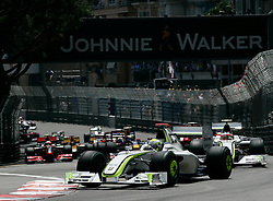MONTE-CARLO, MONACO - Sunday, May 24, 2009: Jenson Button (GBR Brawn GP) during the Monaco Formula One Grand Prix at the Monte-Carlo Circuit. (Pic by Juergen Tap/Hoch Zwei/Propaganda)