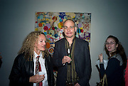STEPHANIE THEOBALDS AND DINOS CHAPMAN. Happiness- Private view of work by Barry Reigate. Paradise Row, London and afterwards at Mark hix's new restaurant. ix Oyster and Chop House, 37-37 Greenhill Rents, Cowcross St, EC1. 14 March 2008. <br /> *** Local Caption *** -DO NOT ARCHIVE-? Copyright Photograph by Dafydd Jones. 248 Clapham Rd. London SW9 0PZ. Tel 0207 820 0771. www.dafjones.com.