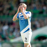 Celtic v St Johnstone…06.05.17     SPFL    Celtic Park<br />Blair Alston reacts as he fires his shot over the bar<br />Picture by Graeme Hart.<br />Copyright Perthshire Picture Agency<br />Tel: 01738 623350  Mobile: 07990 594431