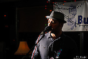 Jason Ager performing during his last show at The Bus Stop Music Cafe in Pitman, NJ.