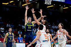 Luka Doncic of Slovenia vs Marc Gasol of Spain during basketball match between National Teams of Slovenia and Spain at Day 15 in Semifinal of the FIBA EuroBasket 2017 at Sinan Erdem Dome in Istanbul, Turkey on September 14, 2017. Photo by Vid Ponikvar / Sportida