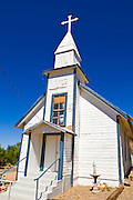 The Santa Barbara Roman Catholic Church at the ghost town of Randsburg, California