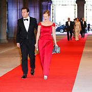 NLD/Amsterdam/20130429- Afscheidsdiner Konining Beatrix Rijksmuseum, Frans Weekers en partner