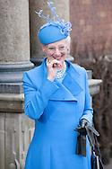 14.04.11. Copenhagen, Denmark.Queen Margrethe's II leaves the Holmens Church after christening ceremony.Photo: Ricardo Ramirez