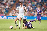 Real Madrid's Theo Hernandez and Fiorentina's Marco Benassi during XXXVIII Santiago Bernabeu Trophy at Santiago Bernabeu Stadium in Madrid, Spain August 23, 2017. (ALTERPHOTOS/Borja B.Hojas)