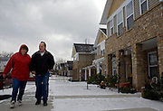 Garret County Community Action Non-Profit...Bill and Sally Hartzel walk in front of their home at the Pysell Ridge Housing development. (Construction Cost: $4.4 mill - 30 Units) The Hartzel's moved into the development at the end of July 2006...Housing Development - Garrett county Community Action is the developer and owner of over 400 units of rental housing. GCCAC also builds single family homes that are sold to persons graduating from its First Time Home Buyers Program. To make building sites affordable and accessible to low and moderate income homebuyers, GCCAC has also developed single family subdivisions for the purpose of selling lots to home buyers...Images taken at the Pysell Ridge Housing development (Construction Cost: $4.4 mill - 30 Units) and the soon to be completed Village View Housing development (Construction Cost: $4.4 mil - 28 units).