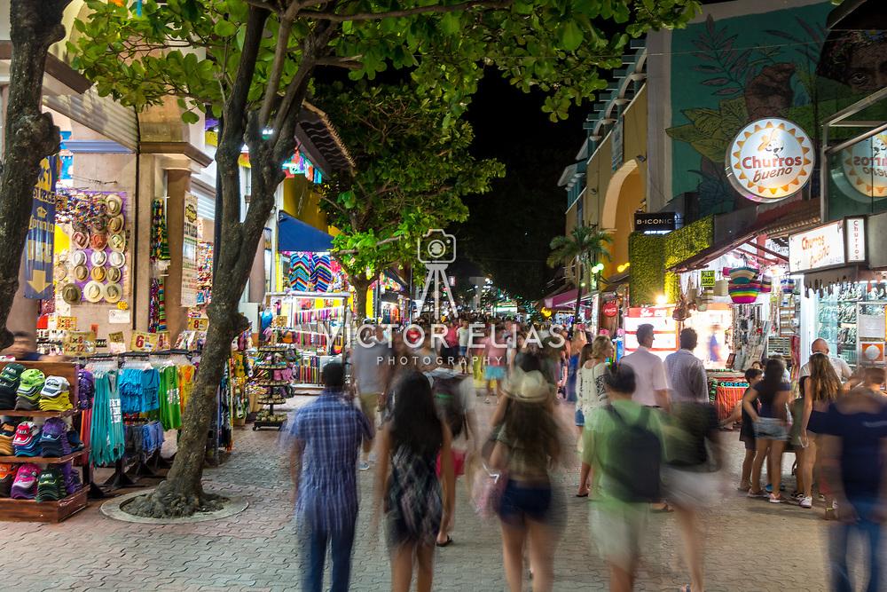 Shopping Quinta Avenida at night.