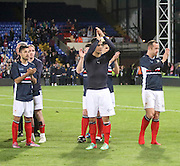 Dylan Carriero, Luka Tankulic and Charlie Adam applaud the Dundee fans - Crystal Palace v Dundee - Julian Speroni testimonial match at Selhurst Park<br /> <br />  - © David Young - www.davidyoungphoto.co.uk - email: davidyoungphoto@gmail.com