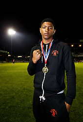 Tyrese Miles of Barton Hill Amateur Boxing Club is introduced in the stadium at Half Time after winning the 80kg class in the 2015 England Boxing Junior Development Championships - Mandatory byline: Rogan Thomson/JMP - 07966 386802 - 20/10/2015 - FOOTBALL - Memorial Stadium - Bristol, England - Bristol Rovers v Notts County - Sky Bet League 2.