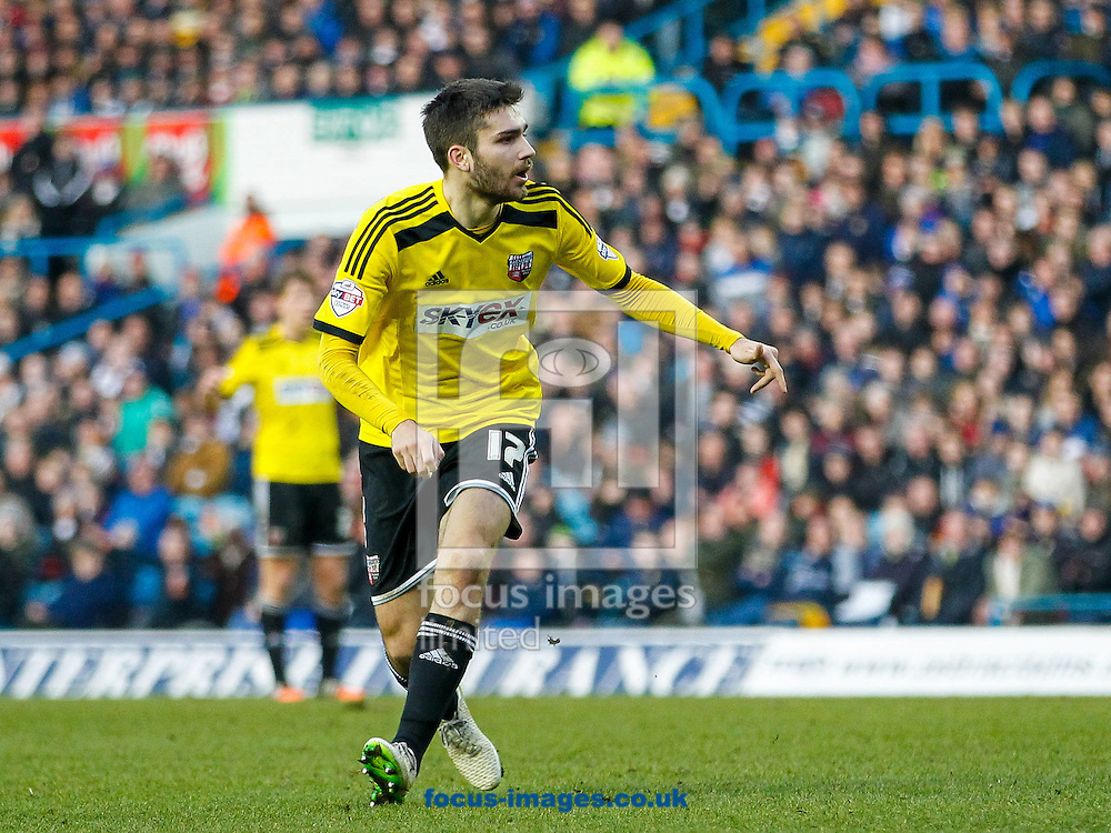 Jon Toral of Brentford during the Sky Bet Championship match between Leeds United and Brentford at Elland Road, Leeds<br /> Picture by Mark D Fuller/Focus Images Ltd +44 7774 216216<br /> 07/02/2015
