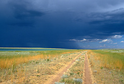 Dramatic sky over the Ruby Ranch in Las Vegas, NM