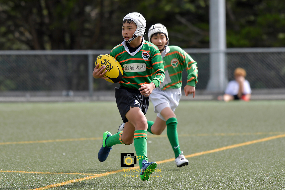U12 Rugby - Sakai Rugby School ( Japan ) v Mark's School at Wellington College, Wellington, New Zealand on Friday 24 March 2017.<br /> Photo by Masanori Udagawa<br /> www.photowellington.photoshelter.com.