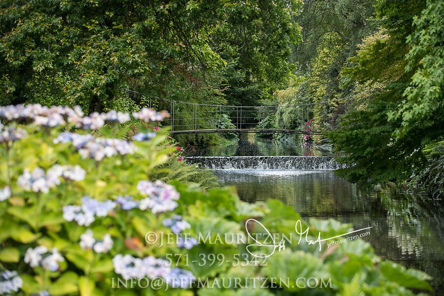 Mount Usher Gardens in Ashford, County Wicklow, Ireland.