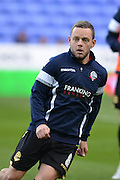 Bolton Wanderers midfielder Jay Spearing warming up before the Sky Bet Championship match between Reading and Bolton Wanderers at the Madejski Stadium, Reading, England on 21 November 2015. Photo by Mark Davies.