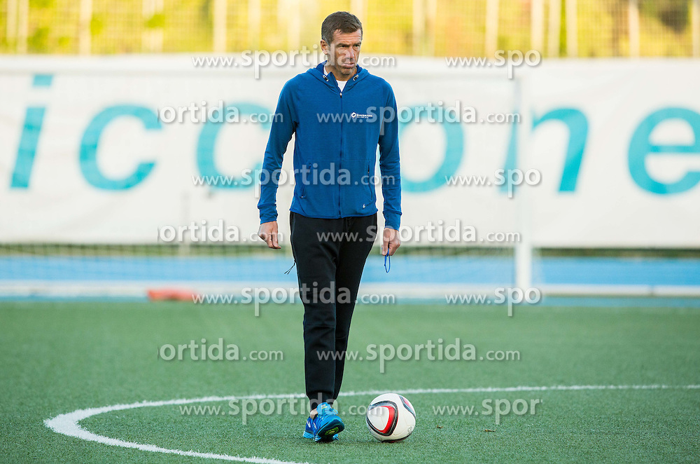 Srecko Katanec, head coach of Slovenia during the practice session of Team Slovenia 1 day before EURO 2016 Qualifier Group E match between Slovenia and San Marino, on October 11, 2015 in Riccione, Italy. Photo by Vid Ponikvar / Sportida