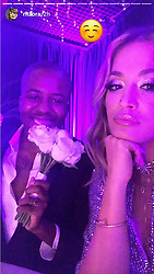 EXCLUSIVE ALL ROUNDER Rita Ora poses in this series of social media pictures at a family members wedding in Tirana, Albania. Rita and her sister Elena Ora were bridesmaids.<br />